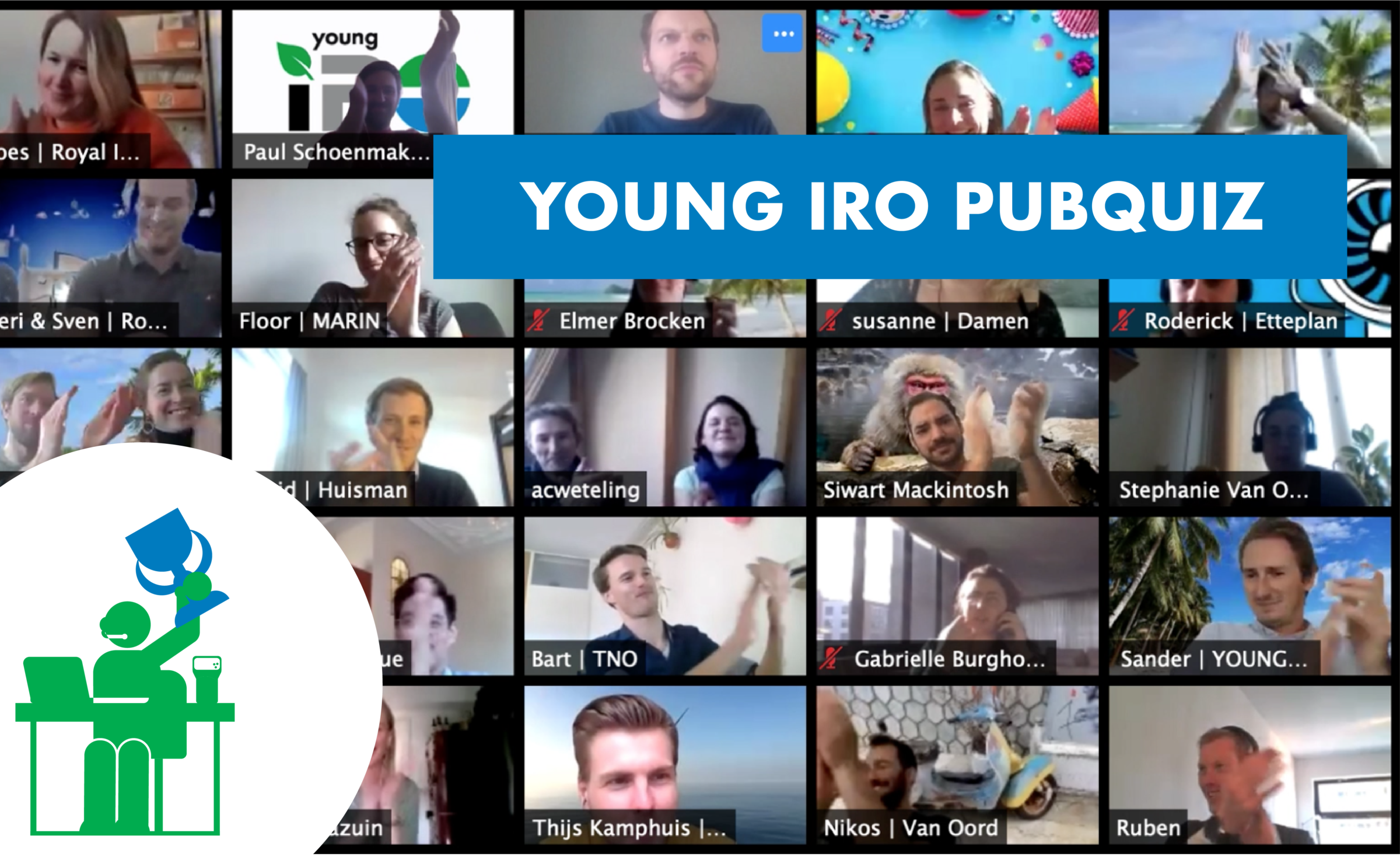 Young IRO online Pubquiz: stay safe, play safe